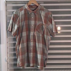 Patagonia s/s plaid shirt, blue, s L